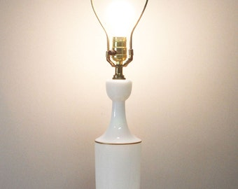 MOVING SALE White Opaline Glass Table Lamp Brass Gold, Large Vintage Glass Lamp Tall