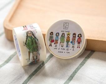 kinbor Lovely Girl Washi Tape (30mm X 10M)