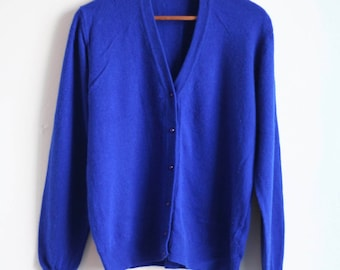Blue Benetton Cardigan - M