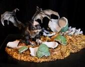 Grumpy Dragon Gargoyle Bulldog Hatchling Sculpture Resin Kit