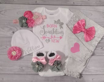 baby girl coming home outfit, newborn baby girl outfit, outfit, hospital outfit, coming home outfit, take home outfit, going home outfit