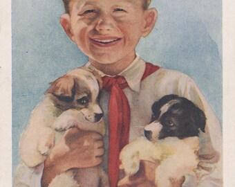 Vintage Postcard by E. Strelkova -- 1954. Condition 8/10