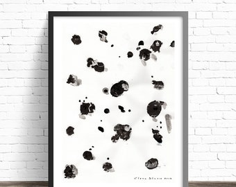 Minimalist Print. Contemporary wall art. Abstract wall art. Black and white abstract art. Wall posters. Modern prints. Minimalist art print