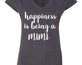 Happiness is being a Mimi shirt // Grandma Shirt, Grandma Gift, Pregnancy Annoucement, New Grandma
