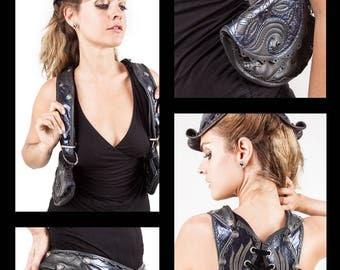CUSTOM MADE to ORDER | Women's Chrysalis Modular Holster | Hip Belt | Wear 10 Ways | Utility Belt | Shoulder Holster | Burning Man Fashion