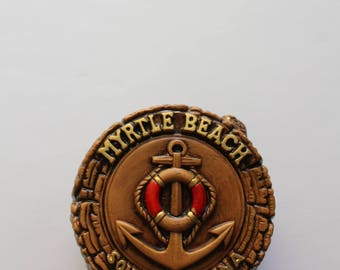 Vintage Ceramic Myrtle Beach Souvenir Napkin Holder 1974