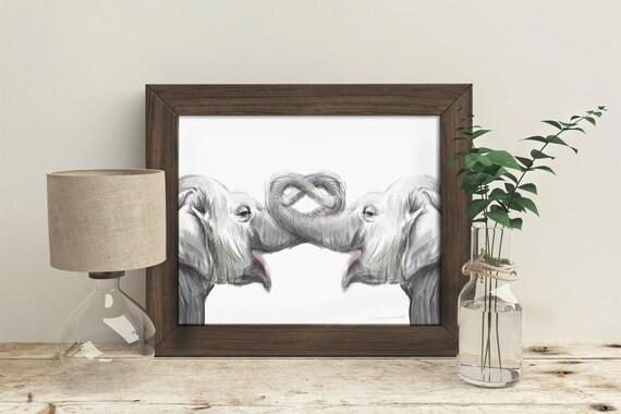 Elephant Art Elephant Print Elephant Painting Baby Elephant Watercolor Elephant Nursery Boy Room Girl Room Elephant Decor Anniversery print