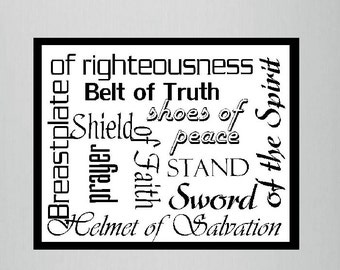 """CLEARANCE Fridge Magnet """"The Armor of God"""" Bible Verse Refrigerator Magnet, Christian Home Decor and Gifts Under 10, MVMG-3001"""