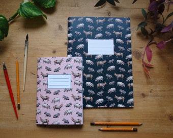 Hippo notebook, hippopotamus journal, animal notebook
