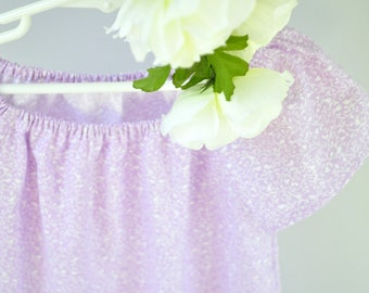 Lavender Purple Cotton Ruffled Nightgown, Sizes Baby Girl 6M 12M 18M 24M 2T 3T 4T, Rose and Ruffle
