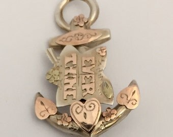 Victorian Anchor Brooch 'Ever Thine'
