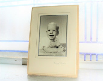 Smiling Baby Boy Photograph Vintage 1940s
