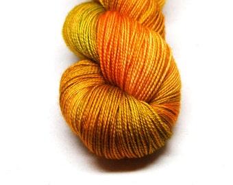"Fingering Weight, ""Wearing and Tearing"" Merino Wool Superwash Yarn, 4 oz, machine washable yarn"