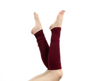 Womens Leg Warmers, Burgundy Leg Warmers, Womens Boot Socks Long Leg Warmers Adult Valentines Gifts, Womens Gift for Her, Best Friend Gift