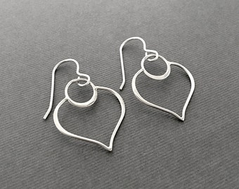 Lotus Sterling Silver Earrings, Modern Jewelry, Artisan Earrings, Lightweight Jewelry, Minimalist Earrings, Under 50, Gifts for Her