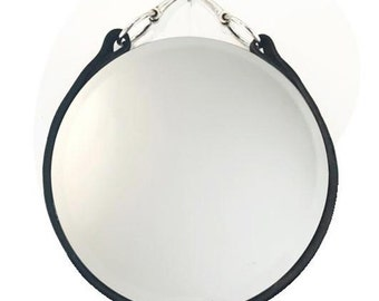 Leather Equestrian Mirror (16-inch)
