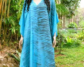 Long Silk Kaftan, Cover up, Summer Dress, Silkz design