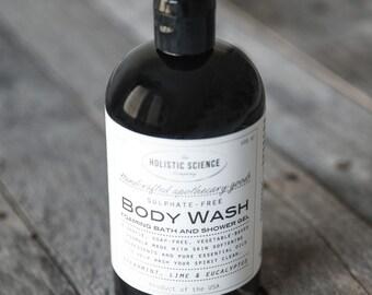 Sulphate Free Body Wash that actually lathers - spearmint, lime & eucalyptus 16oz