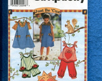 Simplicity 7571 Summer Time Play Clothes for Girls Size 3..4..5..6 UNCUT