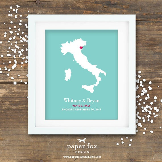 Proposal Print Engagement Gift Printable - Wedding Bridal Shower Gift