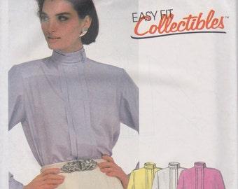 80s Blouse Pattern McCalls 2121 Sizes 14