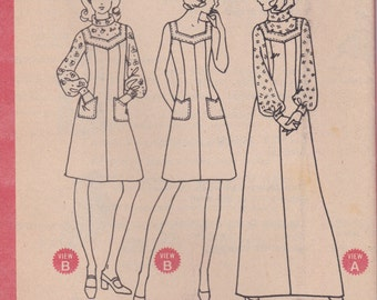 70s Sleeveless Dress or Jumper Pattern McCalls 3531 Size 14 Uncut