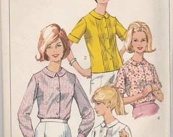 1960s Classic Blouse Pattern Simplicity 6506 Size 14