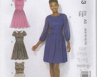 Sweet Dress Pattern McCalls 7083 Sizes 6 - 14 Uncut