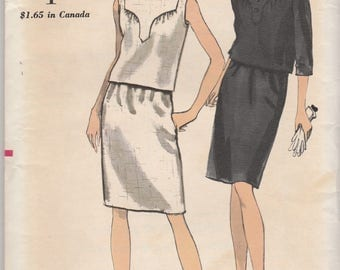 Unusual 60s Two-Piece Dress Pattern Vogue 6957 Size 14