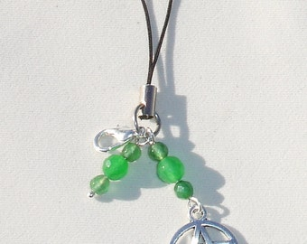 Unique Pentagram Cell Phone Charm with Gemstones  for Smart Phones. Mp3 Players, Etc.