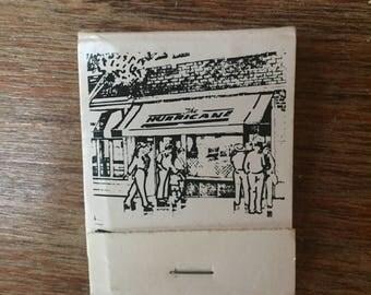 Vintage Matchbook from the Hurricane Bar in Kansas City, Missouri