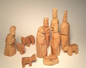 Hand Carved Wood Creche Christmas Baby Jesus