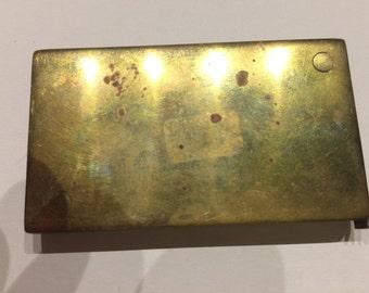 Vintage Scottish Brass Cased Tape Measure 1 Meter