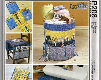 Fat Quarters Sewing Accessories / Original McCall's Crafts Uncut Sewing Pattern P208