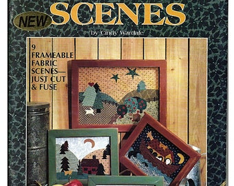 Country Scenes No Sew Fabric Craft Pattern Book by Plaid 8942
