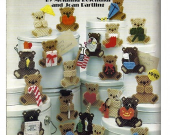 Bears, Bears, and More Bears in Plastic Canvas Pattern Leisure Arts Leaflet 1347