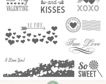 Valentine Editable Photo Overlays, Word Art, Love, Be Mine, xoxo, Photoshop Files and PNG, Pink and White - P8