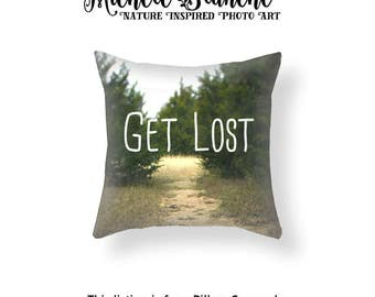 Typography Path Pillow, Nature pillow case, Nature woods cushion, Nature quote pillow, Pillows with Sayings, Throw Pillow Cover