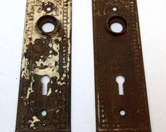 Door knob plate Etsy