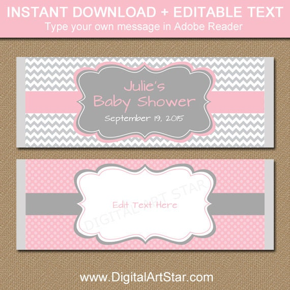 baby shower candy wrappers