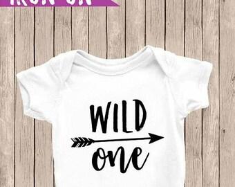 Wild One Iron On, Wild One Onesie, Boy First Birthday Outfit, 1st Birthday Onesie, DIY Iron On