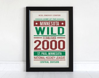 Minnesota Wild - Screen Printed Poster