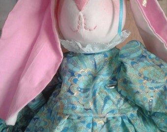 Jessica the Stuffed Easter Bunny Rabbit Doll