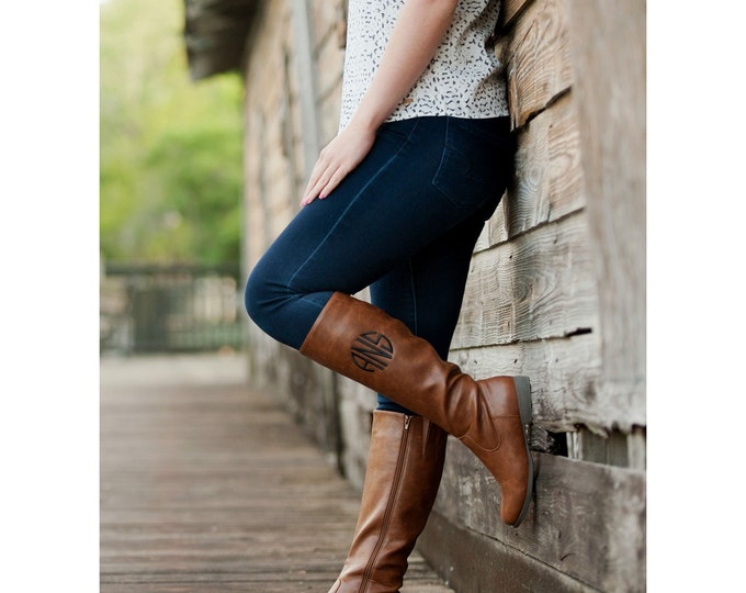 Monogrammed Riding Boots, Monogrammed Gifts, Black Riding Boots, Brown Riding Boots