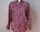 Floral Blouse / Vtg 80s /...