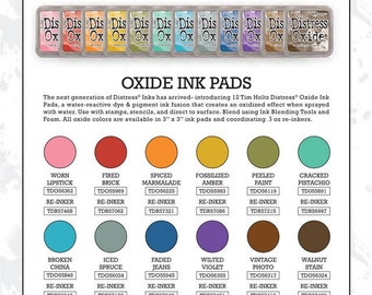 Sale-Now Shipping-Set of 12 TIM HOLTZ DISTRESS® Oxide Ink Pads