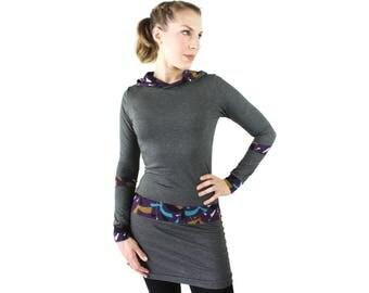 hooded dress gray