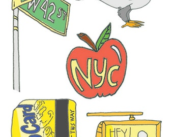 Temporary Tattoos - NYC Party - Temporary Tattoo Set