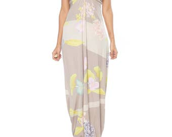 1970s Leonard Silk Jersey Gown Size: 4