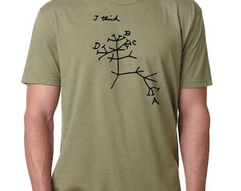 Biology Charles Darwin Tree of Life, Atheist Shirt, Evolution Shirt, Graduation Gift
